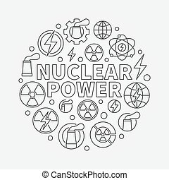 Nuclear power round illustration