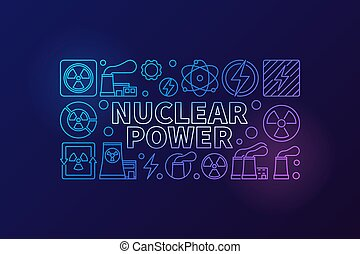 Nuclear power vector illustration