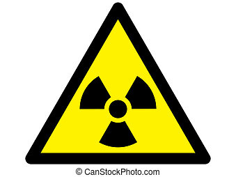 Nuclear Radiation warning - radioactive nuclear warning...