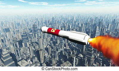 Nuclear Rocket Hits Metropolis 1 - Nuclear Rocket Hit...