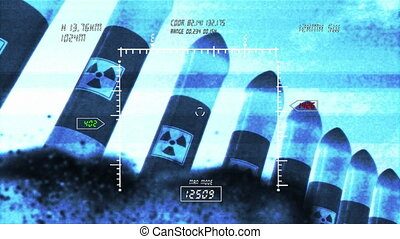 Nuclear Rockets Launch 4 - Nuclear Rocket 3D animation