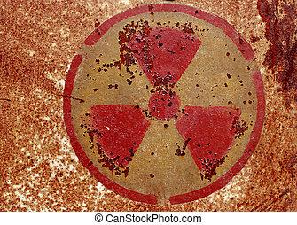 nuclear, símbolo advertindo