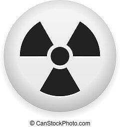 nuclear, símbolo, perigo