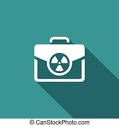 Nuclear suitcase sign. Vector Illustration