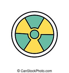 nuclear symbol caution line and fill style icon