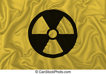 Nuclear symbol on fabric