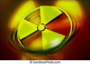 nuclear, symbol, radioactive