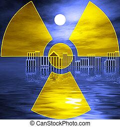 nuclear, tsunami, después, desastre