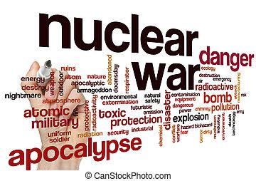 Nuclear war word cloud