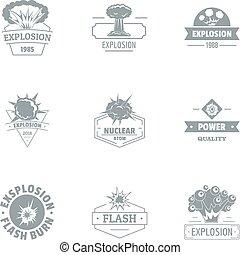 Nuclear world logo set, simple style