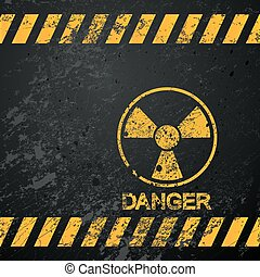 nucleare, avvertimento, pericolo