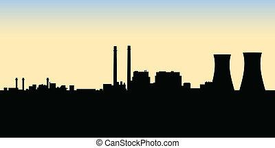 nucleare, stazione, potere