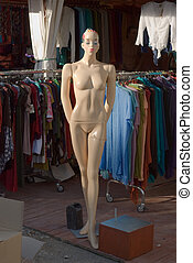Mannequin - Nude Fashion Mannequin of Female Figure