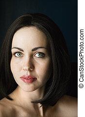 nude kvinde, portrait.