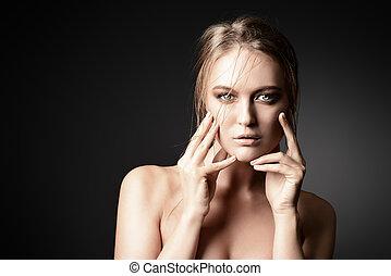 nude kvinde, skønhed
