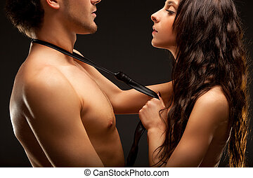 nudo, coppia, moda