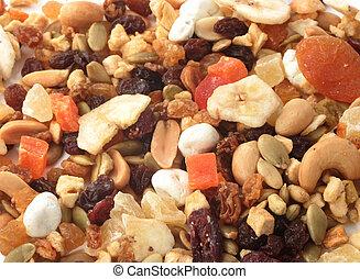 nueces, fruits