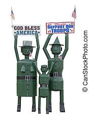 nuestro, apoyo, tropas