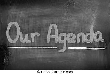 nuestro, concepto, agenda
