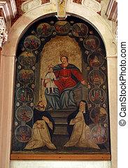 nuestro, dama, rosario, santo