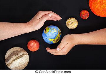 nuestro, hogar, Proteger,  -, tierra