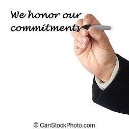 nuestro, nosotros, honor, compromisos