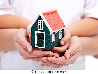 nuestro, protegido, hogar