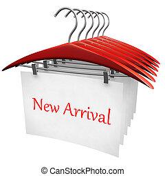 nueva llegada, ropa, moda, concepto