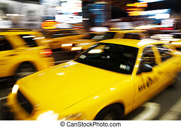 nueva york, cabina amarilla