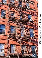 nueva york, despida escalera