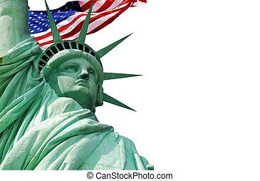 nueva york, estatua, libertad