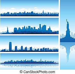 nueva york, plano de fondo