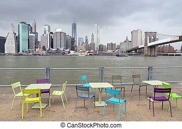 nueva york, rainclouds