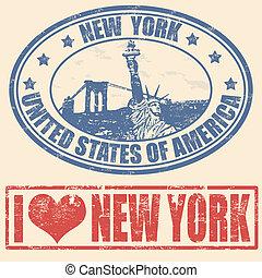 nueva york, sellos