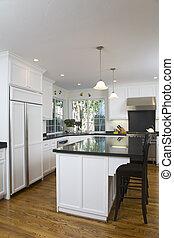 nuevamente, remodeled, blanco, cocina