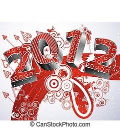 nuevo, 2012, feliz, año