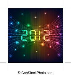 nuevo, 2012, plano de fondo, año