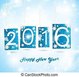 nuevo, 2016, feliz, año