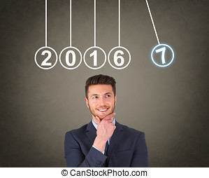 nuevo, 2017, año, energía, conceptos