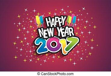 nuevo, 2017, feliz, año