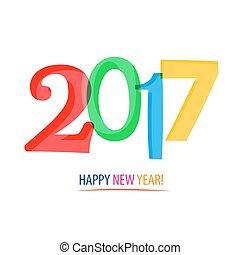 nuevo, 2017, -, year!, feliz