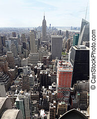 nuevo, aéreo, york, vista