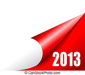 nuevo, año, venida