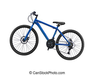 nuevo, bicicleta, aislado