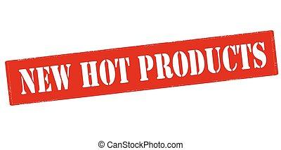 nuevo, caliente, productos