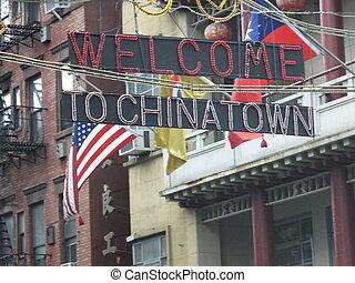 nuevo, chinatown, york, ciudad