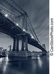 nuevo, city., puente de manhattan, york