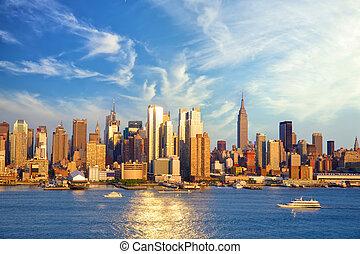 nuevo, ciudad, manhattan, centro de la ciudad, york