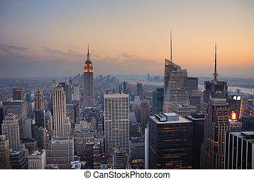 nuevo, ciudad, manhattan, york