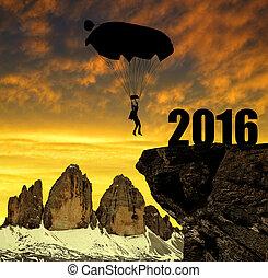 nuevo, concepto, 2016, año